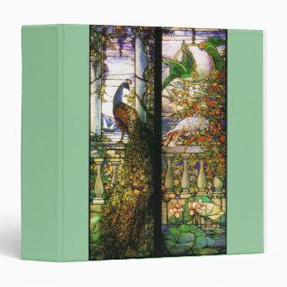 """Naturaleza de Tiffany del vitral de Nouveau del Carpeta 1 1/2"""""""