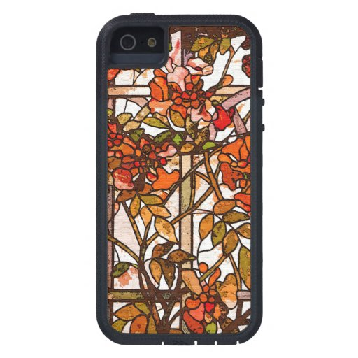 Naturaleza de Tiffany del vitral de Nouveau del Funda iPhone SE/5/5s