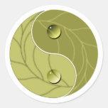 Naturaleza de Yin Yang Pegatinas