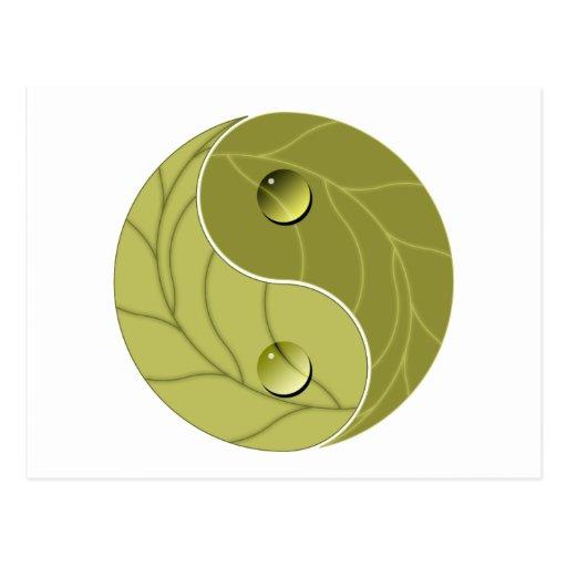 Naturaleza de Yin Yang Tarjetas Postales