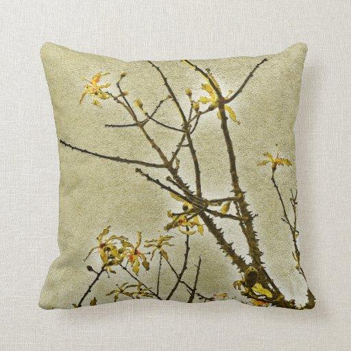Naturaleza decorativa floral almohada