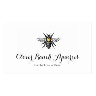 Naturaleza del abejorro de Apairy de la apicultura Tarjetas De Visita