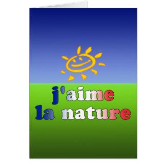 Naturaleza del amor de la naturaleza I del La de J Tarjeta