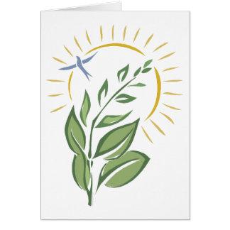 Naturaleza del amor tarjeta de felicitación