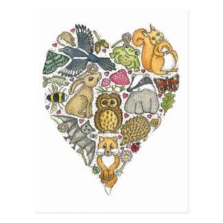 Naturaleza del amor tarjeta postal