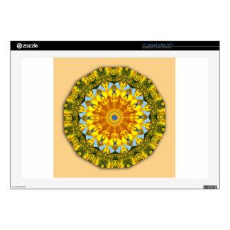 Naturaleza del girasol, Flor-Mandala Portátil Skins