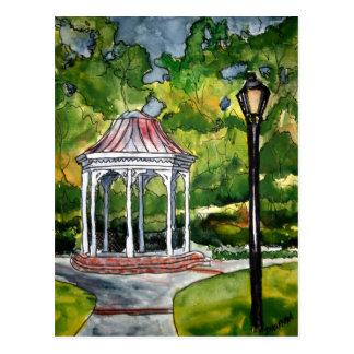 naturaleza del jardín de la pintura de la acuarela postal
