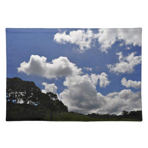 Naturaleza del paisaje del cielo de las nubes manteles individuales