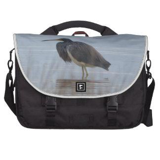 Naturaleza del pájaro de la garza de Tricolored Bolsas Para Ordenador