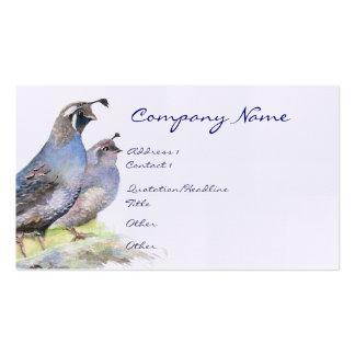Naturaleza del pájaro de la tarjeta de visita de l