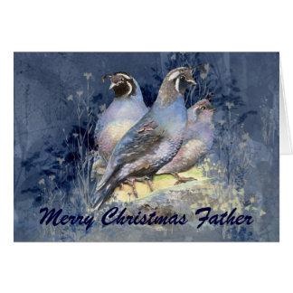 Naturaleza del pájaro de las codornices de tarjeta de felicitación