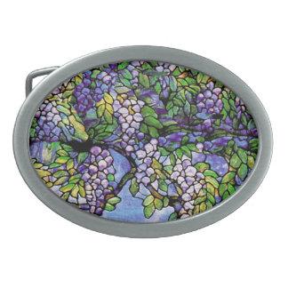 Naturaleza del vitral de Nouveau Tiffany del arte Hebillas Cinturon Ovales