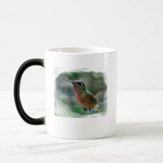 Naturaleza digital de la foto del pájaro del colib tazas