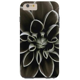 Naturaleza elegante floral de la flor gótica negra funda de iPhone 6 plus tough