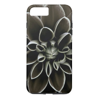 Naturaleza elegante floral de la flor gótica negra funda iPhone 7 plus