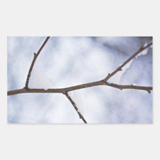 Naturaleza en blanco pegatina rectangular