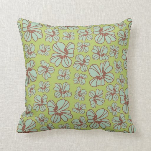 Naturaleza en colores pastel floral, damasco del v almohadas