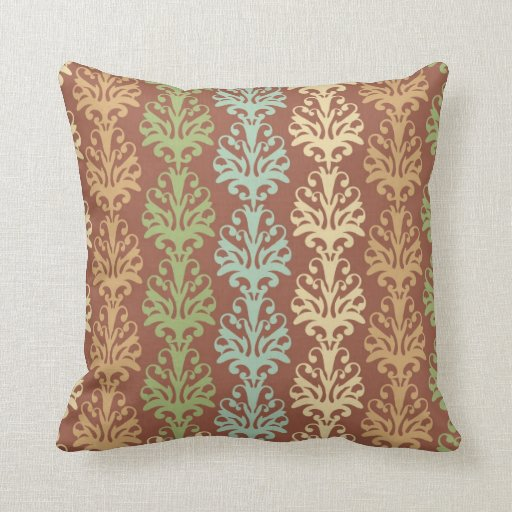 Naturaleza en colores pastel floral, damasco del v almohada