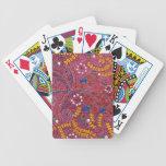 Naturaleza en el caos floral y las hojas baraja cartas de poker