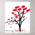 Naturaleza en rojo póster