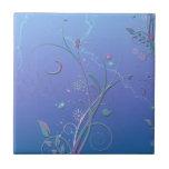 Naturaleza floral del destino del jardín de las vi azulejo