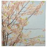Naturaleza floreciente servilletas imprimidas