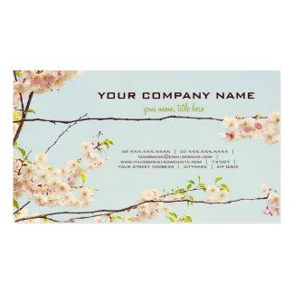 Naturaleza floreciente tarjetas de visita