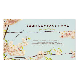 Naturaleza floreciente tarjeta de visita