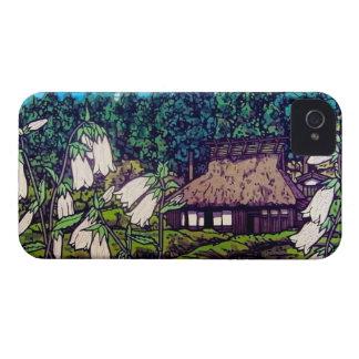 Naturaleza japonesa fresca de la flor de la casa Case-Mate iPhone 4 protectores