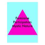 Naturaleza mística de la participación femenina el postal