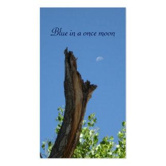 Naturaleza Photography_Blue en una vez una luna Tarjeta De Negocio