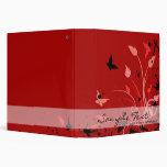Naturaleza roja de la mariposa carpeta 3,8 cm