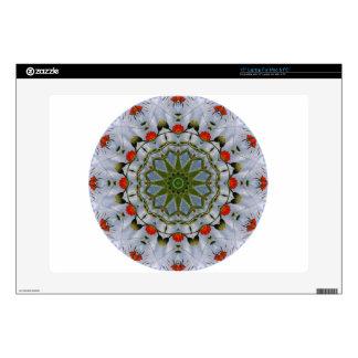 Naturaleza roja de las amapolas, Flor-Mandala Skins Para Portátiles
