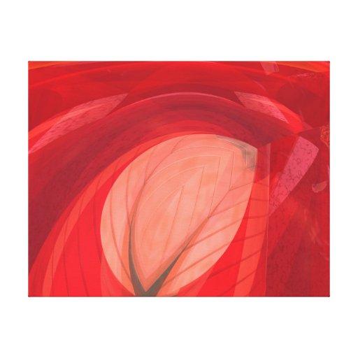 Naturaleza roja impresión en lienzo