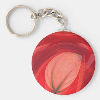 Naturaleza roja llavero redondo tipo pin