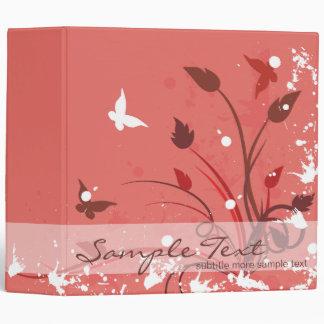 "Naturaleza rosada de la mariposa carpeta 2"""