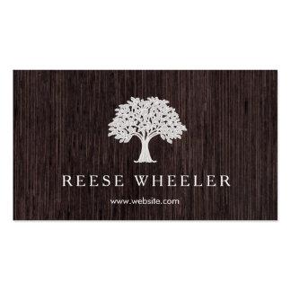 Naturaleza rústica de madera del logotipo del tarjetas de visita