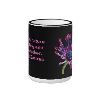 naturaleza taza de dos colores