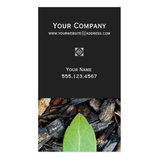 Naturaleza verde elegante del diseñador del tarjetas de visita