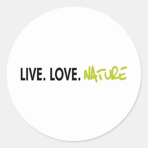 ¡Naturaleza viva del amor! ¡Productos frescos de Pegatina Redonda