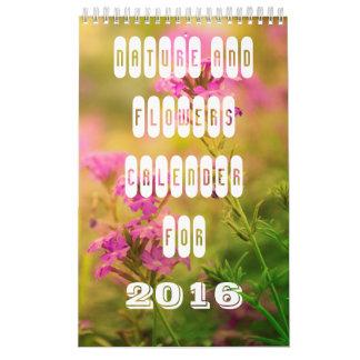 Naturaleza y flores calendarios de pared