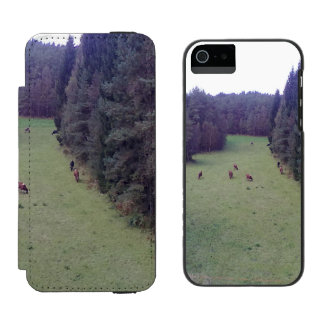 Naturaleza y vaca funda cartera para iPhone 5 watson