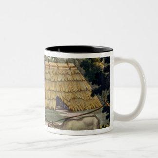 Naturalists question natives near Kupang, Timor, p Two-Tone Coffee Mug