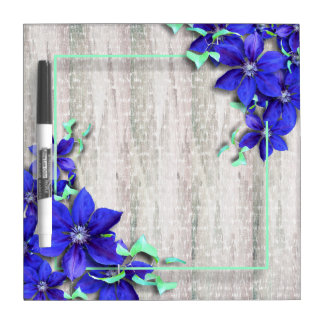 Naturally Beautiful Purple Clematis Vine Dry Erase Board