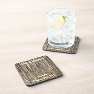 Naturally Cool Surfaces_Palm Tree Hair_Hula Skirt Beverage Coaster