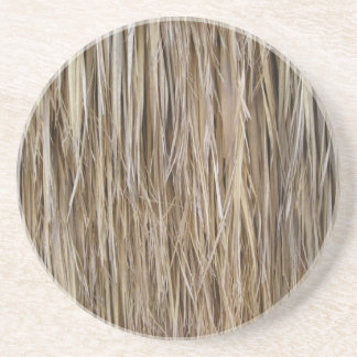 Naturally Cool Surfaces_Palm Tree Hair_Hula Skirt Drink Coaster