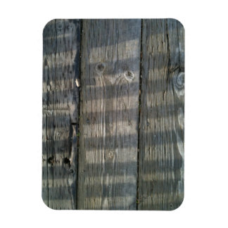Naturally Cool Surfaces_Shadow Planks Wood Deck Rectangular Photo Magnet