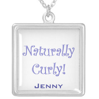 Naturally Curly Hair Silver Plated Necklace