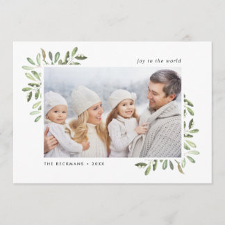 Naturally Joyful | Holiday Photo Card