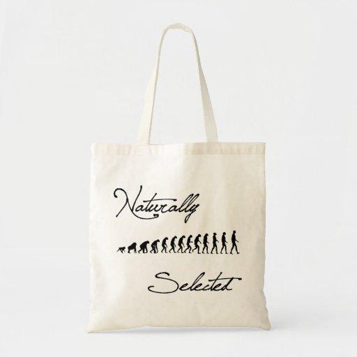 Naturally Selected Evolution Shirt Budget Tote Bag